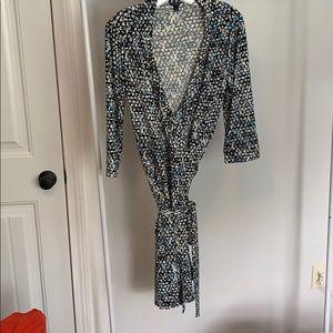 Ann Taylor pattern wrap dress